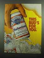 1989 Budweiser Beer Ad