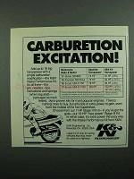 1989 K&N Filtercharger Ad - Carburetion Excitation