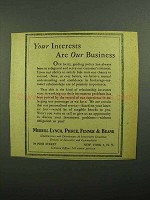 1943 Merrill Lynch Ad - Your Interests are Our Business