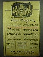 1943 Dow Jones Ad - New Horizons
