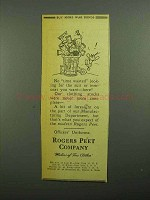 1943 Rogers Peet Company Ad - No Time Wasted