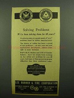 1943 Lee Rubber & Tire Ad - Solving Problems
