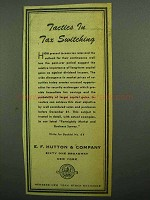 1943 E.F. Hutton & Company Ad, Tactics in Tax Switching