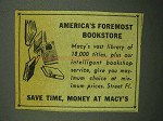 1943 Macy's Department Store Ad - Foremost Bookstore