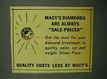1943 Macy's Department Store Ad - Diamonds Sale-Priced