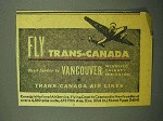 1943 Trans-Canada Air Lines Ad - Fly