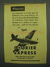 1943 Buffalo Courier Express Ad - Planes