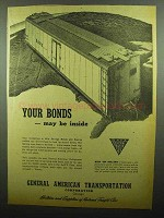 1942 GATX General American Transportation Ad - Bonds