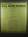 1942 Fruehauf Trailer Ad - Can Save Still More Rubber