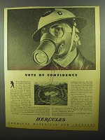 1942 Hercules Chemical Materials Ad, Vote of Confidence