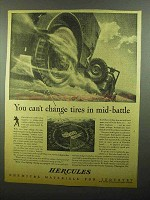 1942 Hercules Chemical Materials Ad - Change Tires