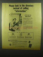 1942 Bell Telephone Ad - Look in the Directory Instead