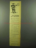 1942 Wall Street Journal Ad - This Christmas Give News