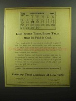 1942 Guaranty Trust Company of New York Ad - Estate