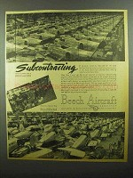 1942 Beech Aircraft Ad - Subcontracting