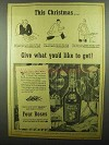 1942 Four Roses Whiskey Ad - This Christmas