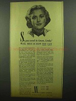 1942 Wall Street Journal Ad - So You need to know, Lady