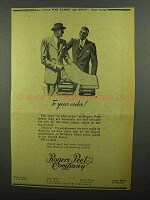 1942 Rogers Peet Company Ad - Your Order