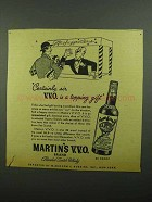 1942 Martin's Scotch Ad - V.V.O. Is A Topping Gift