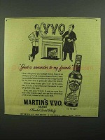 1942 Martin's Scotch Ad - Just A Rminder to My Friends