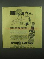 1942 Martin's Scotch Ad - Tell it To The Marines!