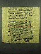 1942 Bell Telephone Ad - Why Shouldn't I Telephone