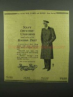 1942 Rogers Peet Company Ad - Navy Officers' Uniforms