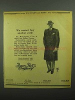 1942 Rogers Peet Company Ad - Cannot Buy Another Yard