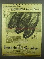 1942 Florsheim Essex, Commander and Military Shoes Ad