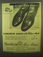 1942 Florsheim Woodcliffe Shoes Ad - For Mobility