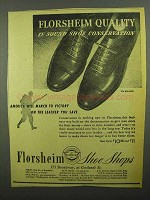 1942 Florsheim Eclipse Shoes Ad - Conservation