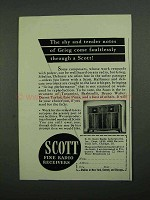 1942 Scott Radio Ad - Shy Tender Notes of Grieg