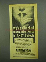1942 Celotex Sound-Conditioning Ad - Noise in Schools