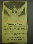 1942 Georg Jensen Christmas Cards Ad