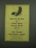 1942 Chase National Bank Ad - Help Win the War