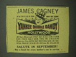 1942 Yankee Doodle Dandy Movie Ad - James Cagney