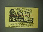 1942 The Gay Sisters Movie Ad - Barbara Stanwyck
