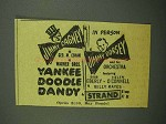 1942 Yankee Doodle Dandy Movie Ad - Jimmy Cagney