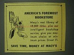 1942 Macy's Department Store Ad - Foremost Bookstore