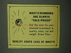 1942 Macy's Department Store Ad - Diamonds Sale-Priced