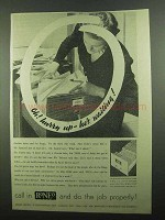 1939 Roneo Numeralpha Filing System Ad - Oh! Hurry Up