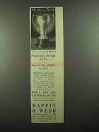 1939 Mappin & Webb Sterling Silver Cups Ad