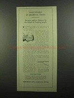1939 Horlicks Malted Milk Drink Ad - In Hospital Tests