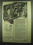 1939 Ovaltine Drink Ad - Exposed But Protected