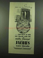 1939 Jacob's Water Biscuits Ad - Only One Stonehenge