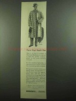 1939 Burberrys Dual Overcoat Ad - Coat Inside Out