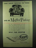 1939 Esso Ethyl Gasoline Ad - No Muffled Pinking