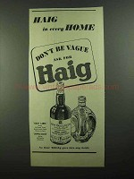 1939 Haig Gold Label and Dimple Scots Scotch Ad!
