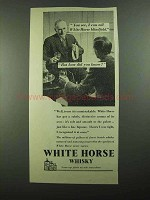 1939 White Horse Scotch Ad - How Did You Know?