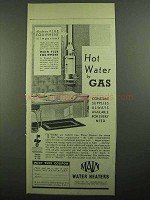 1939 Main Water Heaters Ad - Hot Water by Gas